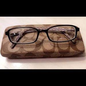 COACH Hillary logo glasses hard case NWOT